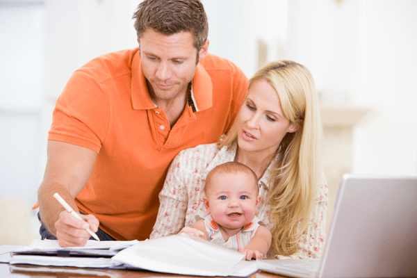 Mom & Dad Earn Money Working from Home